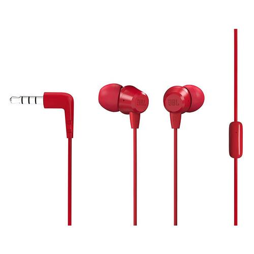 Гарнитура JBL C50HI, 3.5 мм, вкладыши, красный [jblc50hired]