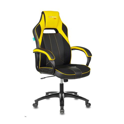 Кресло игровое ZOMBIE VIKING 2 AERO, на колесиках, искусственная кожа/ткань, желтый/черный [viking 2 aero yellow] недорого