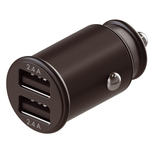 Автомобильное зарядное устройство INTERSTEP 72101, 2xUSB, 2.4A, черный