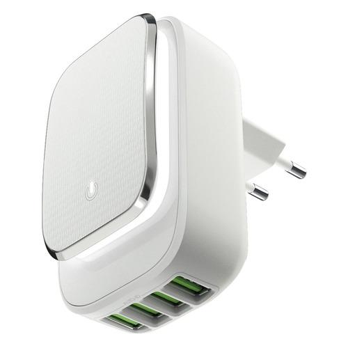 Сетевое зарядное устройство INTERSTEP 67311, 4xUSB, 4.4A, белый