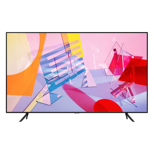 QLED телевизор SAMSUNG QE55Q60TAUXRU, 55, Ultra HD 4K телевизор xiaomi mi tv 4s 55 55 ultra hd 4k
