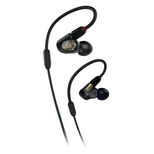 Наушники Audio-Technica ATH-E50, 3.5 мм, вкладыши, черный [80000798] наушники audio technica ath e50 черный