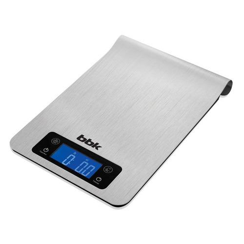 Весы кухонные BBK KS150M, серебристый кухонные весы bbk ks102g blue