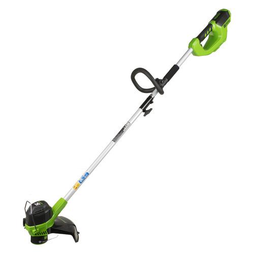Фото - Триммер электрический GREENWORKS G40LT, аккумуляторный, разборная штанга [2101507] электрический триммер greenworks gst5033