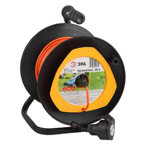 цена на Удлинитель силовой Эра RPx-1-2x0.75-30m (Б0043043) 2x0.75кв.мм 1розет. 30м ПВС 6A катушка оранжевый