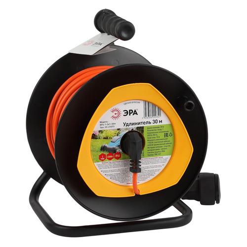 Удлинитель силовой Эра RPx-1-2x1-30m (Б0046833) 2x1.0кв.мм 1розет. 30м ПВС 10A катушка оранжевый удлинитель эра силовой rpx 4es 3x0 75 30m б0043052