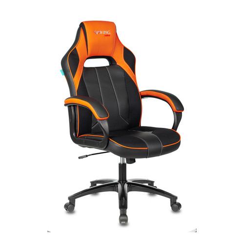 Кресло игровое ZOMBIE VIKING 2 AERO, на колесиках, искусственная кожа/ткань, оранжевый/черный [viking 2 aero orange] недорого