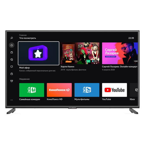 Фото - Телевизор HYUNDAI H-LED65EU1301, Яндекс.ТВ, 65, Ultra HD 4K телевизор samsung ue65tu7500uxru 65 ultra hd 4k