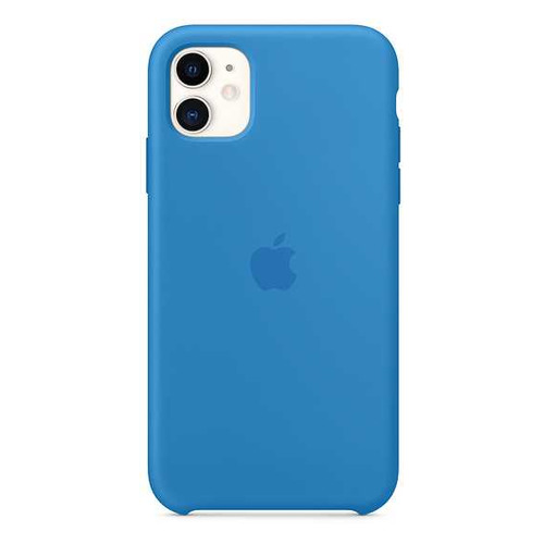 фото Чехол (клип-кейс) apple silicone case mxyy2zm/a, для apple iphone 11, cиняя волна