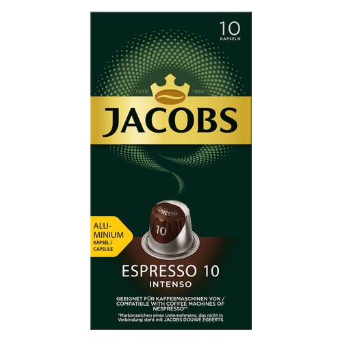 Кофе капсульный JACOBS MONARCH Espresso 10 Intenso Nespresso, капсулы, совместимые с кофемашинами NESPRESSO®, крепость 10, 10 шт [8052286] кофе капсульный cellini delizioso caffe lungo капсулы совместимые с кофемашинами nespresso® крепость 8 10 шт
