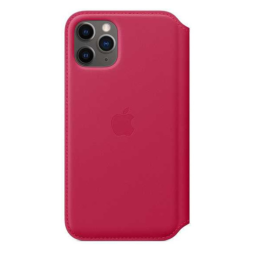 Чехол (флип-кейс) APPLE Leather Folio, для Apple iPhone 11 Pro, малиновый [my1k2zm/a] чехол флип кейс apple leather folio для apple iphone 11 pro зеленый павлин [my1m2zm a]