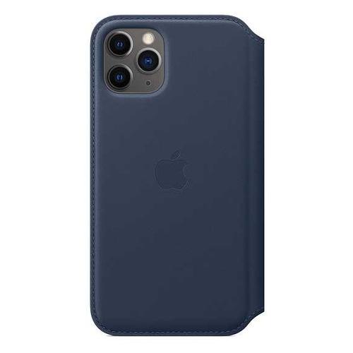 Чехол (флип-кейс) APPLE Leather Folio, для Apple iPhone 11 Pro, синяя пучина [my1l2zm/a] чехол флип кейс apple leather folio для apple iphone 11 pro зеленый павлин [my1m2zm a]