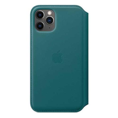 Чехол (флип-кейс) APPLE Leather Folio, для Apple iPhone 11 Pro, зеленый павлин [my1m2zm/a] чехол флип кейс apple leather folio для apple iphone 11 pro зеленый павлин [my1m2zm a]
