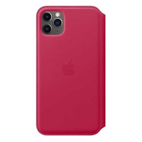 Чехол (флип-кейс) Apple Leather Folio, для Apple iPhone 11 Pro Max, малиновый [my1n2zm/a]