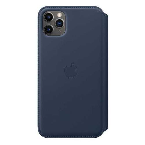 Чехол (флип-кейс) APPLE Leather Folio, для Apple iPhone 11 Pro Max, синяя пучина [my1p2zm/a] чехол флип кейс apple leather folio для apple iphone 11 pro зеленый павлин [my1m2zm a]