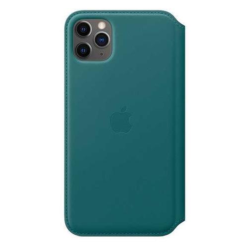 Чехол (флип-кейс) APPLE Leather Folio, для Apple iPhone 11 Pro Max, зеленый павлин [my1q2zm/a] чехол флип кейс apple leather folio для apple iphone 11 pro зеленый павлин [my1m2zm a]