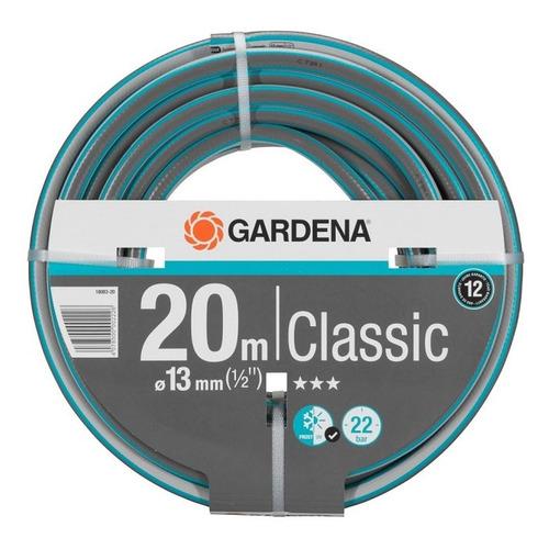 Шланг Gardena Classic 1/2 20м поливочный армированный серый/зеленый (18003-20.000.00) шланг поливочный gardena premium 1 2 4424 22