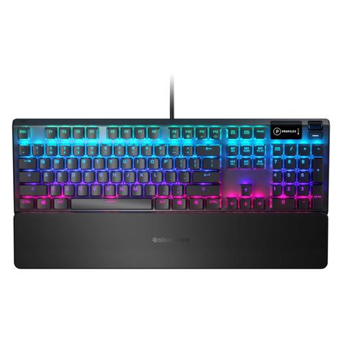Фото - Клавиатура STEELSERIES Apex 5 RU, USB, c подставкой для запястий, черный [64532] дутики для девочки biki цвет черный a b23 33 c размер 34