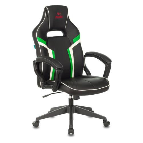 Кресло игровое БЮРОКРАТ VIKING ZOMBIE Z3, на колесиках, искусственная кожа, черный/зеленый [viking zombie z3 grn]