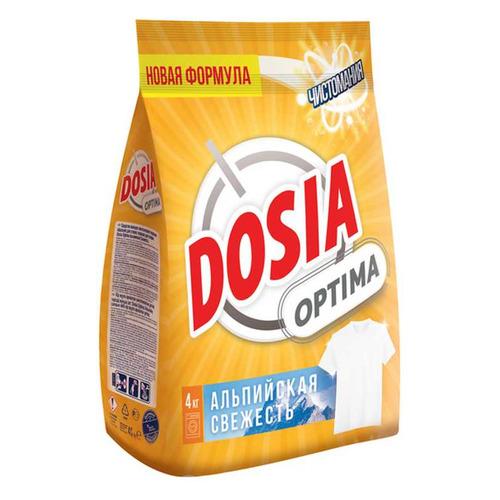 dosia стиральный порошок для ручн стирки альпийская свежесть 365гр Стиральный порошок DOSIA Optima Альпийская Свежесть, универсал, 4кг