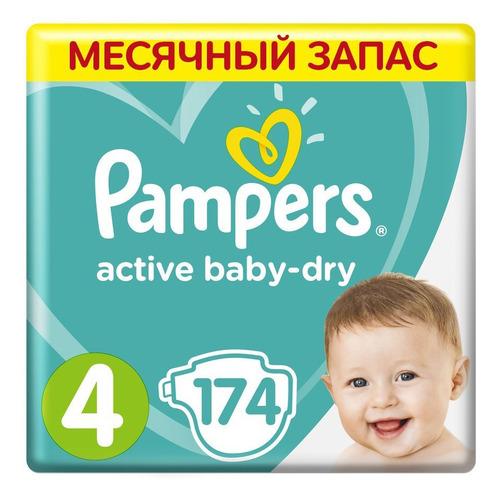 Подгузники Active Baby-Dry Maxi, 9-14 кг, 174 шт. подгузники skippy подгузники econom р 3 4 9 кг 56 шт
