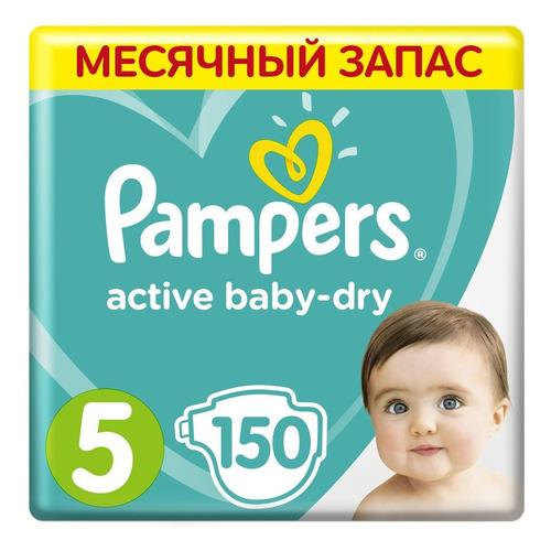 Фото - Pampers подгузники Active Baby-Dry Junior, 11-16 кг, 5 размер, 150 шт. pampers подгузники new baby dry 1 2 5 кг 27 шт