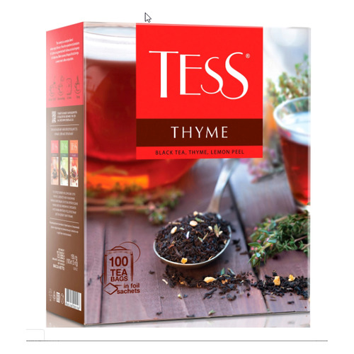 Чай Tess Thyme черный чабрец/цедра лимона 100пак. 150гр карт/уп. (1185-09)