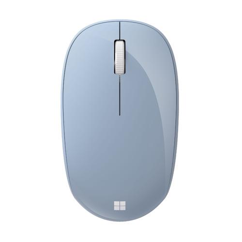Мышь MICROSOFT Bluetooth, оптическая, беспроводная, светло-голубой [rjn-00022] мышь microsoft bluetooth черный оптическая 1000dpi беспроводная bt 2but