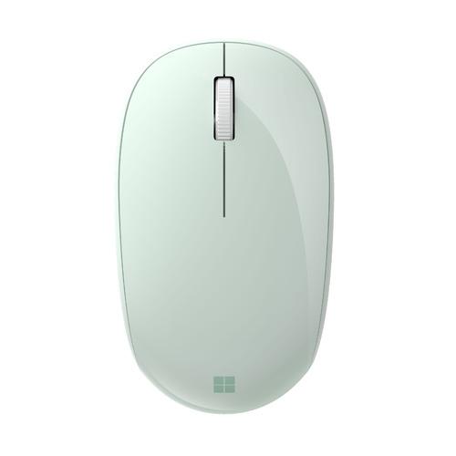 Мышь MICROSOFT Bluetooth, оптическая, беспроводная, светло-зеленый [rjn-00034] мышь microsoft bluetooth черный оптическая 1000dpi беспроводная bt 2but