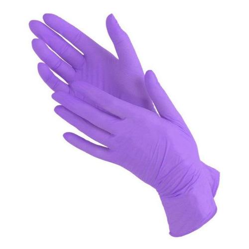 цена Перчатки неопудренные одноразовые, размер: XL, нитрил, 180шт, цвет фиолетовый [ln 303] онлайн в 2017 году