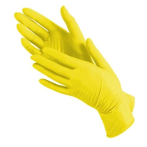 цена Перчатки неопудренные SAFE&CARE одноразовые, размер: L, нитрил, 100шт, цвет желтый [tn 382] онлайн в 2017 году