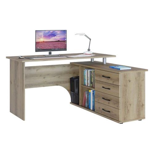 Стол компьютерный СОКОЛ КСТ-109П, угловой, ЛДСП, дуб делано