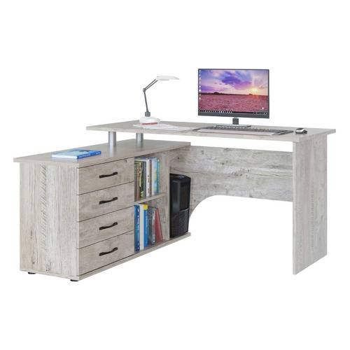 Стол компьютерный СОКОЛ КСТ-109П, ЛДСП, дуб юкон