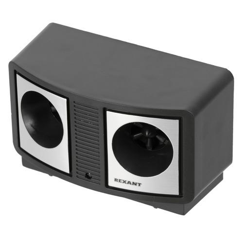 Отпугиватель Rexant 71-0019 ультразвуковой стационарный 9Вт 30-70 кГц р.д.:90м черный/серебряный ультразвуковой отпугиватель rexant 71 0037 20 кв м
