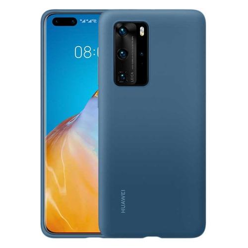 Чехол (клип-кейс) HUAWEI Silicone, для Huawei P40, темно-синий [51993799]  - купить со скидкой