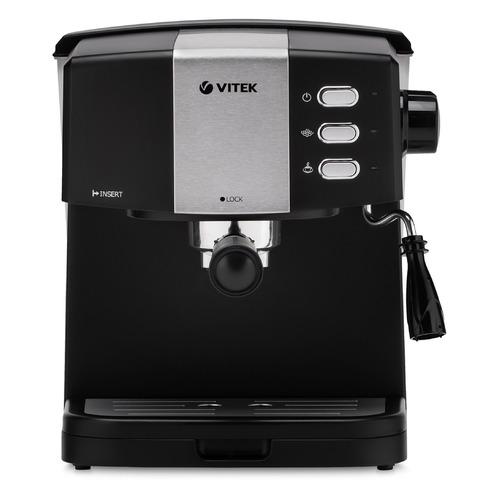 Фото - Кофеварка VITEK 1523-VT, эспрессо, черный / серебристый кофеварка vitek vt 1503
