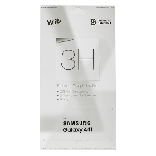 Защитная пленка для экрана SAMSUNG Wits для Samsung Galaxy A41, прозрачная, 1 шт [gp-tfa415wsatr] цена 2017