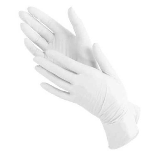 Перчатки опудренные SFM одноразовые, размер: M, латекс, 100шт, цвет белый