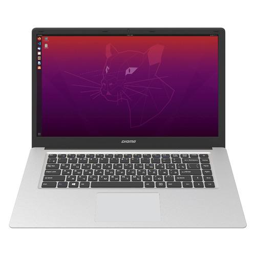 Ноутбуки, Ноутбук DIGMA EVE 15 C400, 15.5 , IPS, Intel Celeron N3350 1.1ГГц, 4ГБ, 128ГБ SSD, Intel HD Graphics 500, Ubuntu, ES5041EW, серебристый  - купить со скидкой