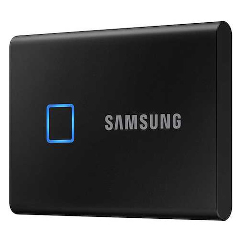Фото - Внешний диск SSD SAMSUNG T7 Touch MU-PC1T0K/WW, 1ТБ, черный внешний диск ssd samsung t7 touch mu pc2t0s ww 2тб серый