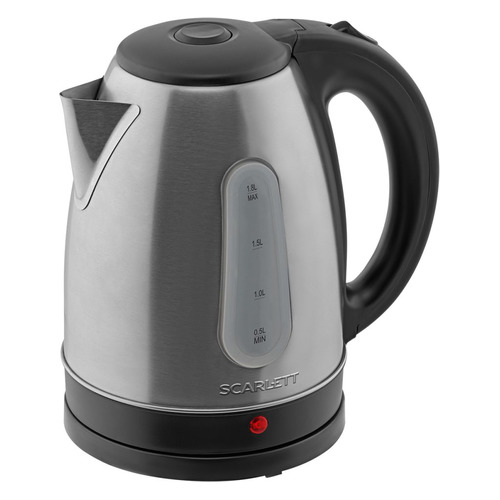 Фото - Чайник электрический SCARLETT SC-EK21S94, 2200Вт, нержавеющая сталь и черный чайник электрический scarlett sc ek21s94