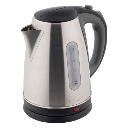 Фото - Чайник электрический SCARLETT SC-EK21S97, 2200Вт, черный и серый чайник электрический scarlett sc ek21s76 2л 1800вт красный