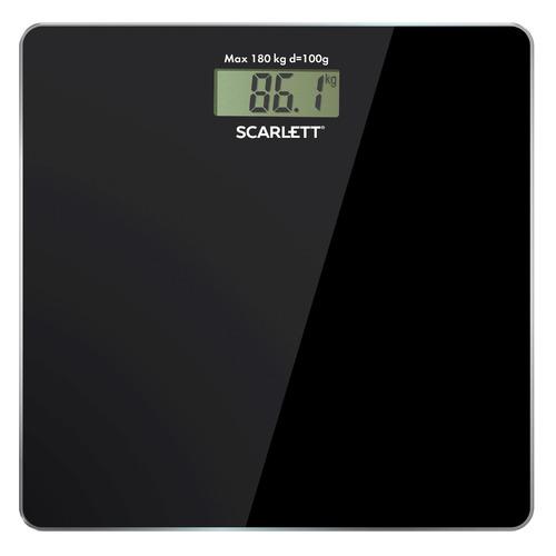 Фото - Напольные весы SCARLETT SC-BS33E036, до 180кг, цвет: черный весы напольные scarlett sc bs 33 e 090