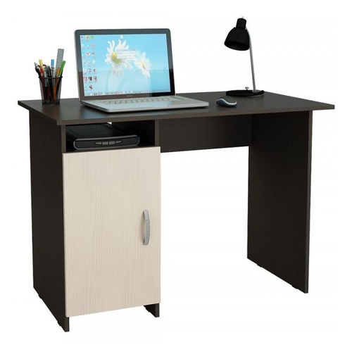 Стол компьютерный МАСТЕР Милан-8 (0120), ЛДСП, венге и дуб молочный