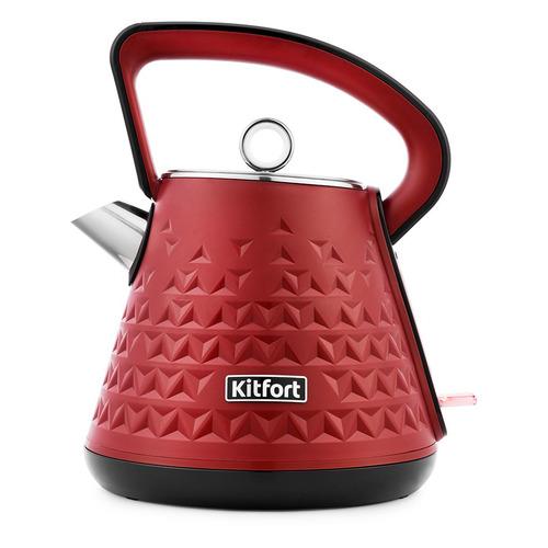 Чайник электрический KITFORT КТ-693-2, 2200Вт, красный