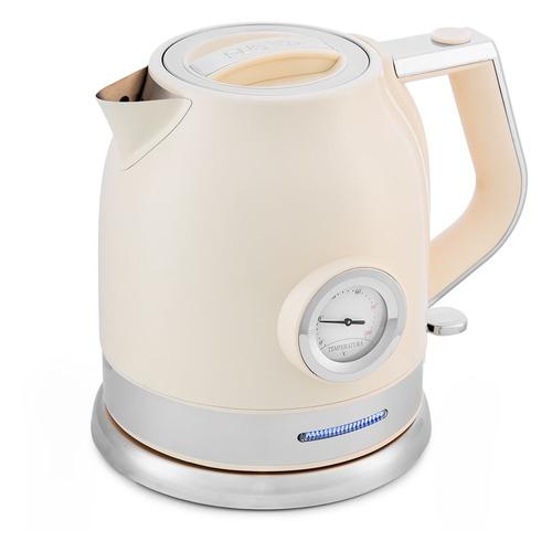Чайник электрический HYUNDAI HYK-S3041, 2200Вт, серебристый матовый и черный HYUNDAI