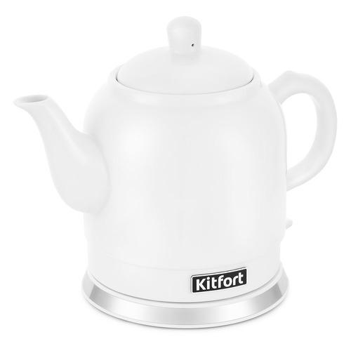Фото - Чайник электрический KITFORT КТ-691-1, 1800Вт, белый чайник электрический kitfort кт 667 1 1150вт белый