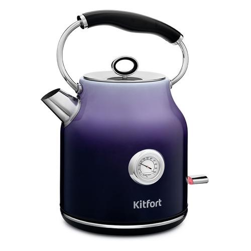 Чайник электрический KITFORT КТ-679-3, 2200Вт, фиолетовый фен ga ma tempo 2200вт фиолетовый