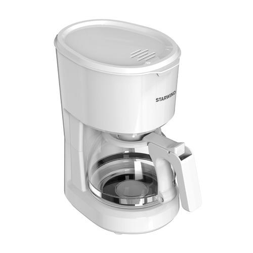 Кофеварка STARWIND STD0611, капельная, белый