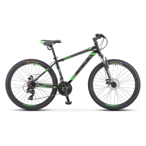 """Велосипед Stels Navigator-500 D (2020) горный рам.:18"""" кол.:26"""" черный/зеленый 16.5кг (LU084374)"""
